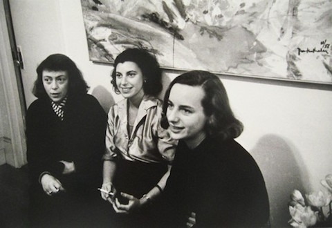 (from right to left) Joan Mitchell, Helen Frankenthaler, and Grace Hartigan