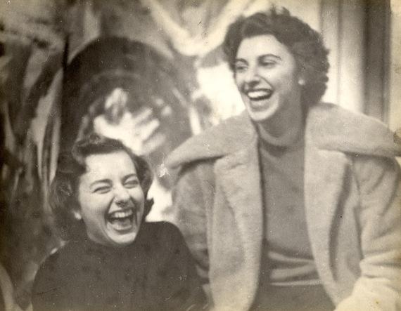 Grace Hartigan (left) and Helen Frankenthaler (right)