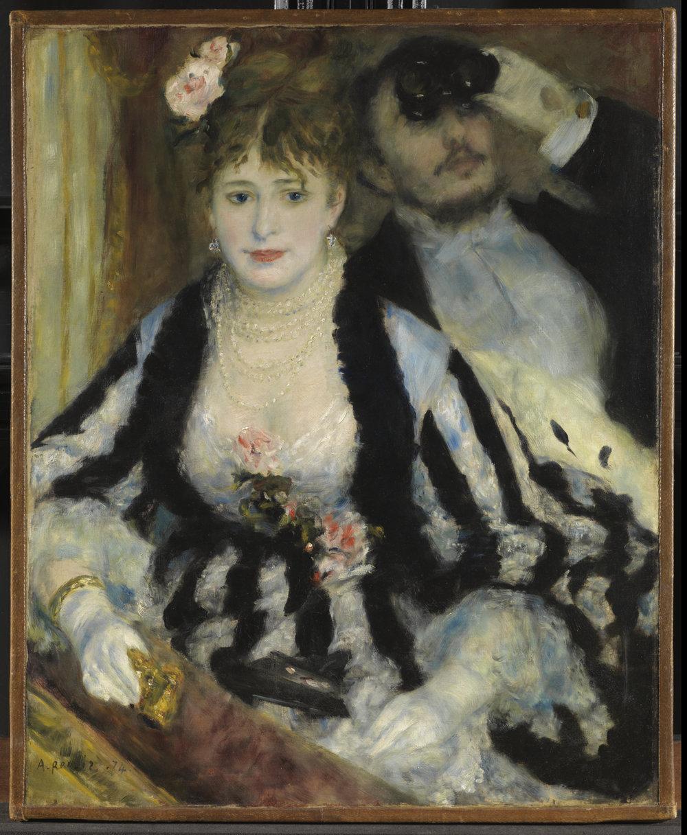 Pierre August Renoir,  La Loge  (Theatre box), 1874