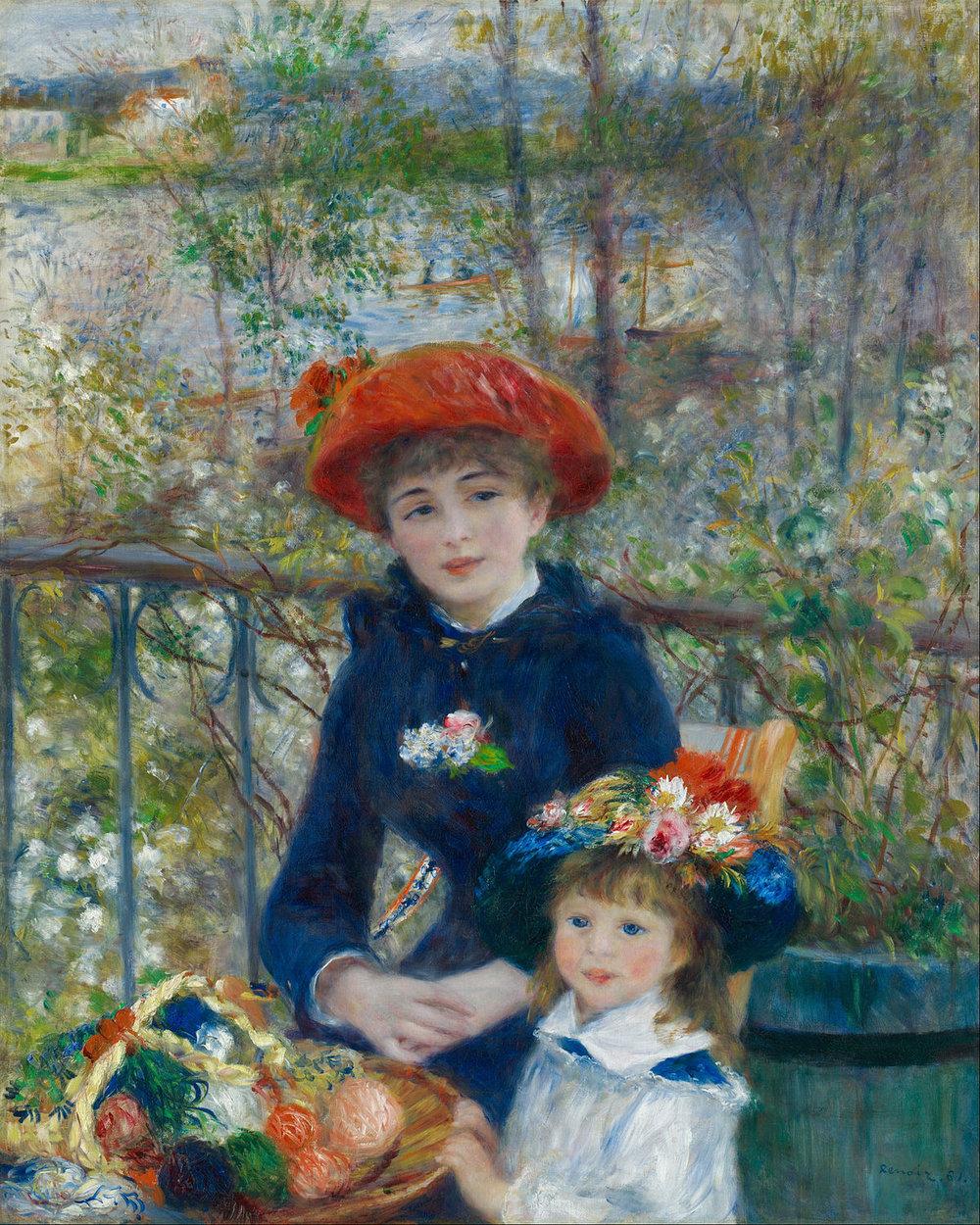 Renoir,  Two Sisters , 1881