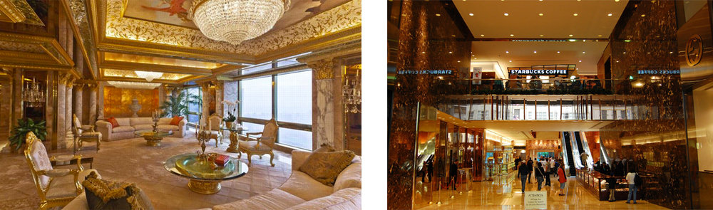 Images of inside Trump Tower.