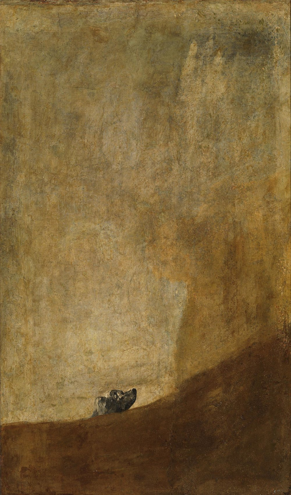Francisco Goya,  The Dog (El   perro  ) , 1819-1823. Widely considered one of the best paintings in modern art.