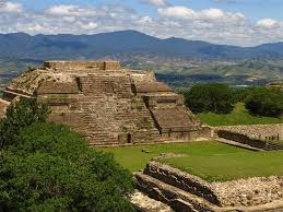 Monte Albán, located in Oaxaca, Mexico