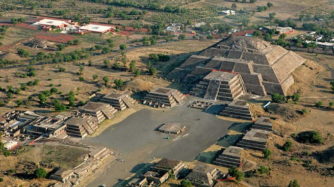Teotihuacán, located northeast of Mexico City, Mexico