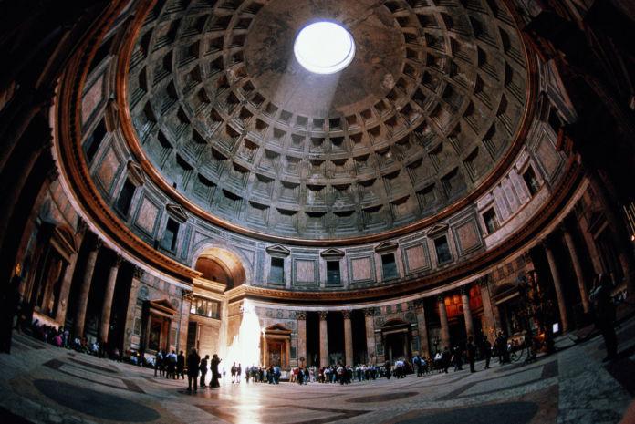 Pantheon , Rome, Italy, 125 CE