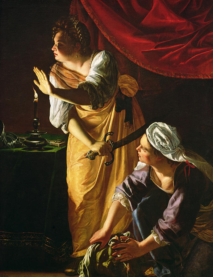 Artemisia Gentileschi,  Judith and her Maidservant,  1625, oil on canvas