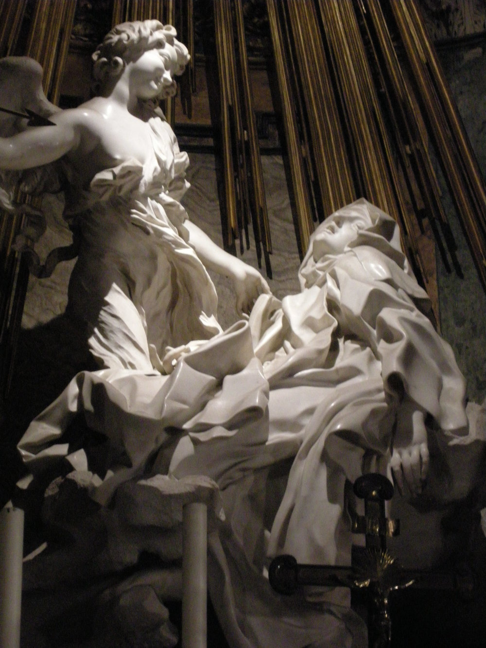 Bernini,  Ecstasy of   Saint Teresa,  1645-52, Cornaro Chapel in the Church of Saint Maria Della Vittoria, Rome, Italy