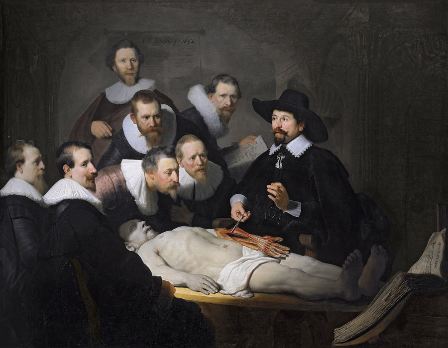 Rembrandt,  The Anatomy Lesson   of Dr. Nicolaes Tulp,  1631, oil on canvas