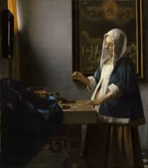 Jan Vermeer,  Woman Holding a Balance , 1662-63, oil on canvas