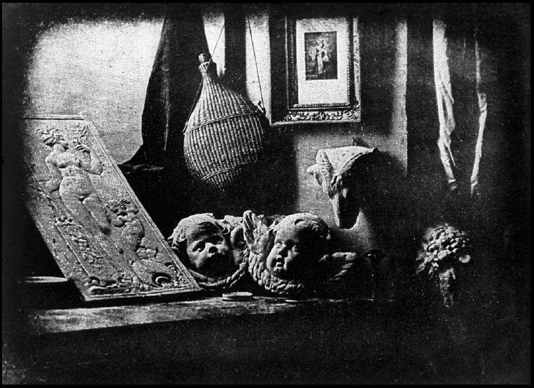 Louis-Jacques-Mande Daguerre,  The Artist's Studio , 1837, daguerreotype