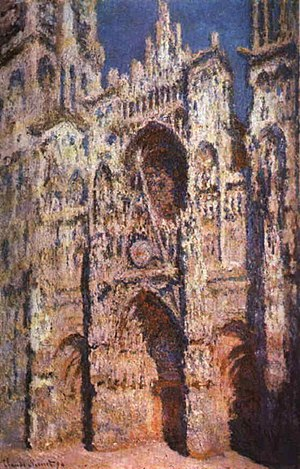 Claude Monet,  Rouen Cathedral: The Portal (Full Sunlight) , 1894, oil on canvas