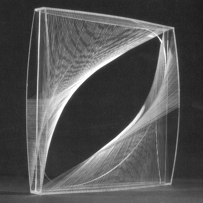 Naum Gabo,  Linear Construction in Space No. 1 , 1945-46, Perspex with nylon monofilament