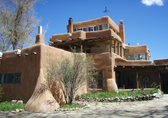 Mabel Dodge Luhan's home in Taos, New Mexico (now a hotel)