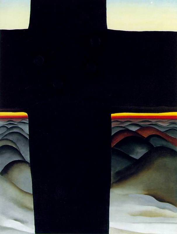 Georgia O'Keeffe,  Black Cross , 1929, oil on canvas