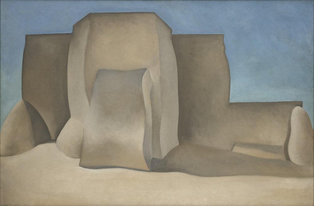 Georgia O'Keeffe,  Ranchos Church II, NM , 1929, oil on canvas