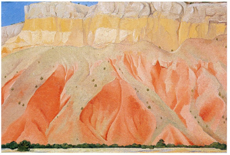 Georgia O'Keeffe,  Red and Yellow Cliffs , 1940, oil on canvas