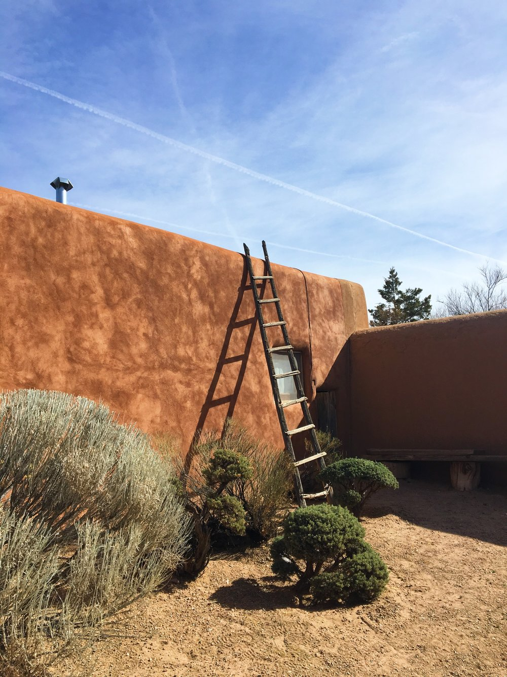 Outside of O'Keeffe's Abiquiu home (photo by me)
