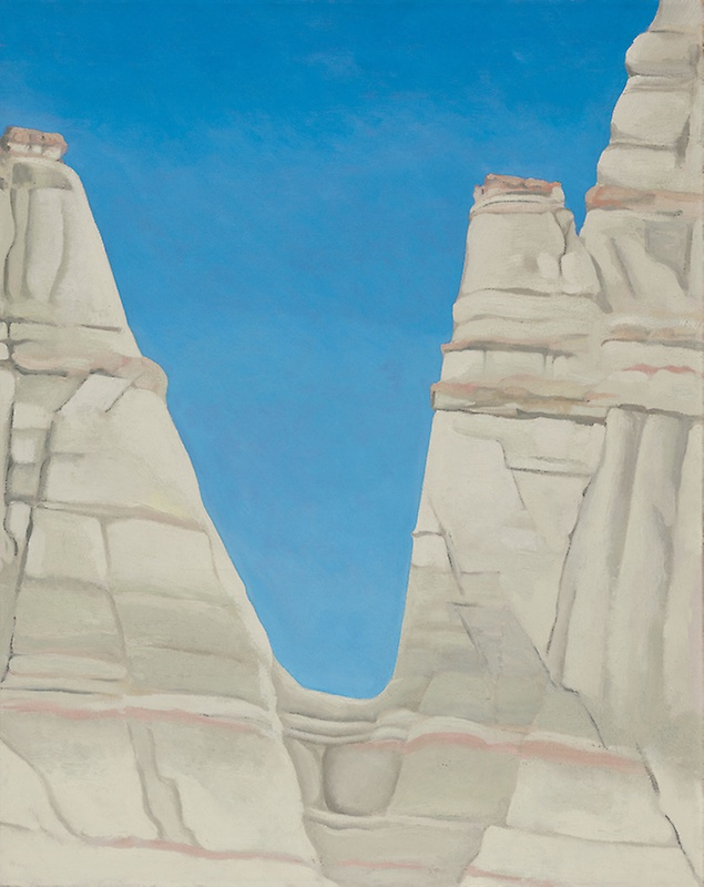 Georgia O'Keeffe,  The White Place in Sun , 1943, oil on canvas