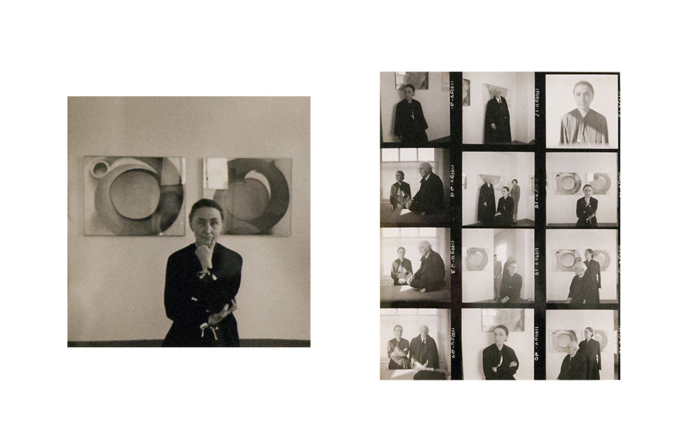 Cecil Beaton,  Twelve images of artist Georgia O'Keeffe, her husband Alfred Stieglitz and Mercedes Acosta , 1946 (this was taken the year Stieglitz died)