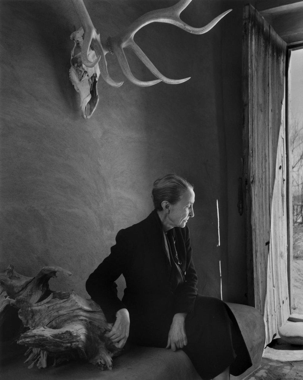 New Mexico phase -Yousuf Karsh,  Georgia O'Keeffe , 1956, gelatin silver print