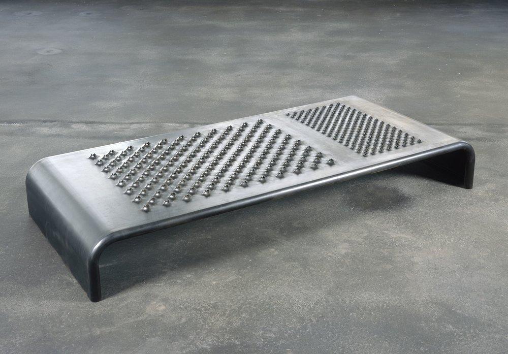 Mona Hatoum,  Daybed , 2008, black finished steel