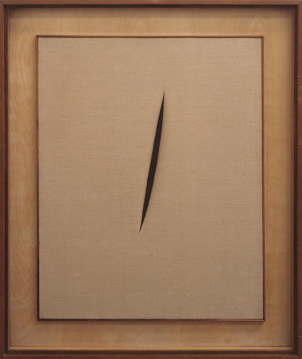 Lucio Fontana,  Spatial Concept 'Waiting'  ( Concetto spaziale 'Attesa') , 1960
