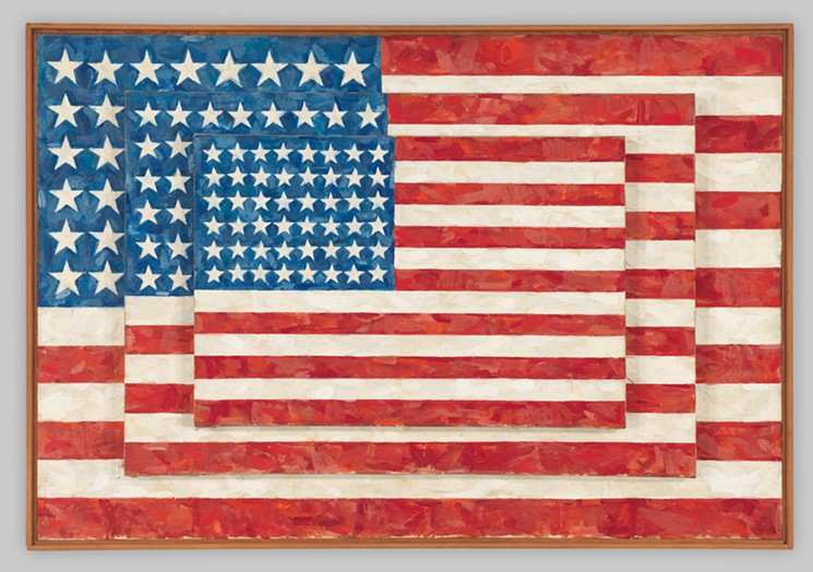 Jasper Johns,  Three Flags , 1958