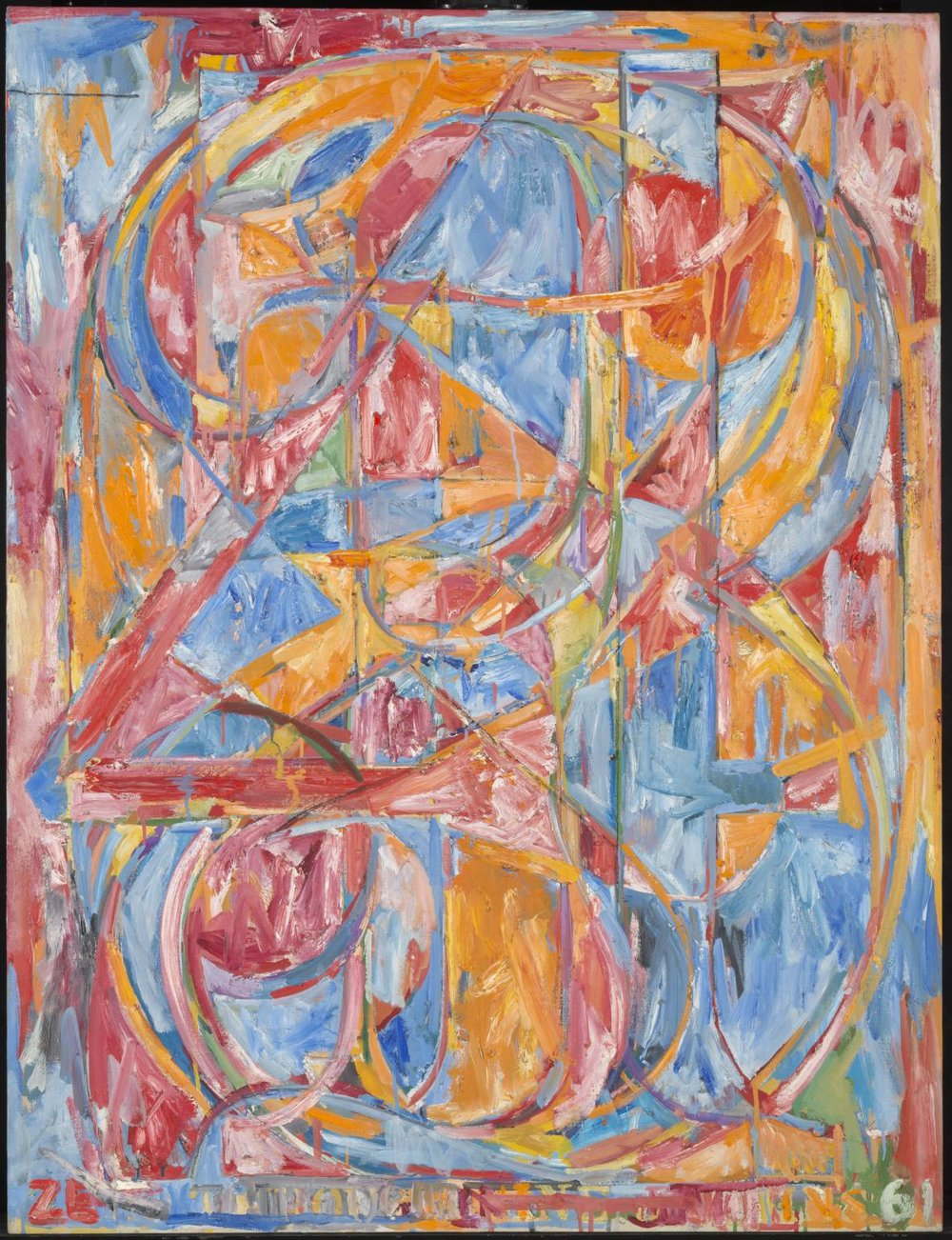 Jasper Johns,  0 through 9 , 1961