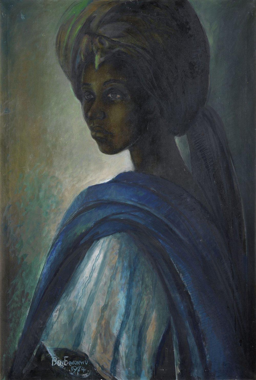 Ben Enwonwu,  Portrait of Princess Tutu , 1974