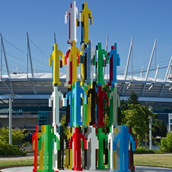 Jonathan Borofsky,  Human Structures , 2014, Vancouver Biennale
