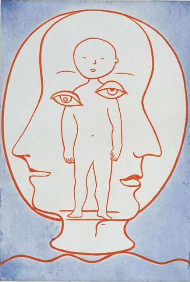Louise Bourgeois,  Self Portrait , 1990, drypoint, etching, and aquatint