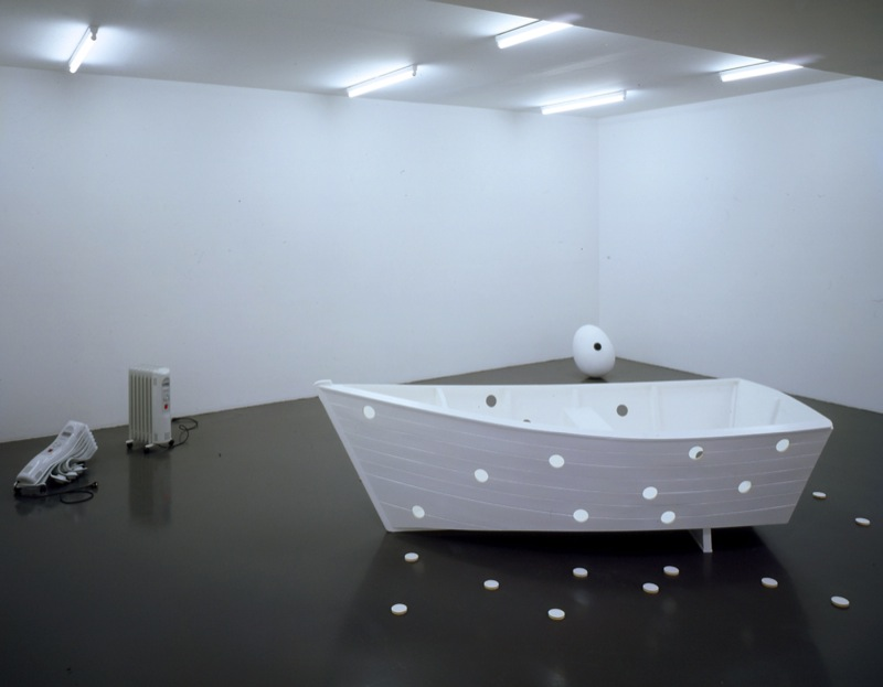 Elmgreen and Dragset,  Not Quite the Same , 2003, Polyester, painting, plastic, 26 x 51 x 24 Inches.