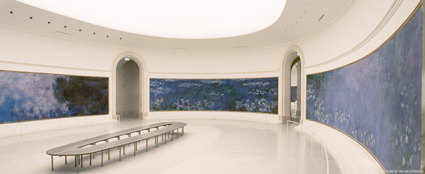Monet's  Water Lilies  in the Musee de l'Orangerie