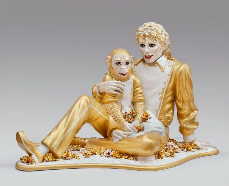 Jeff Koons,  Michael Jackson and Bubbles , 1988, Porcelain