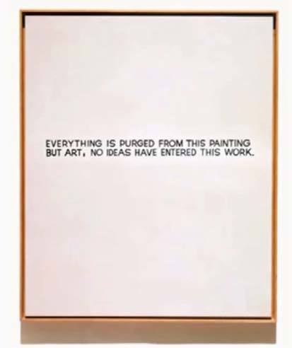 John Baldessari.  Everything is Purged From This Painting But Art , 1966.