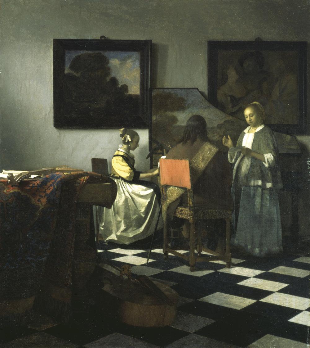 Vermeer's  The Concert  (1664). Stolen in 1990,
