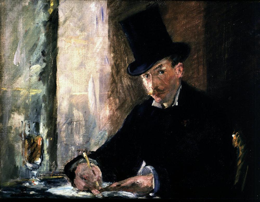Manet's  Chez Tortoni  (1878-1880). Stolen in 1990.