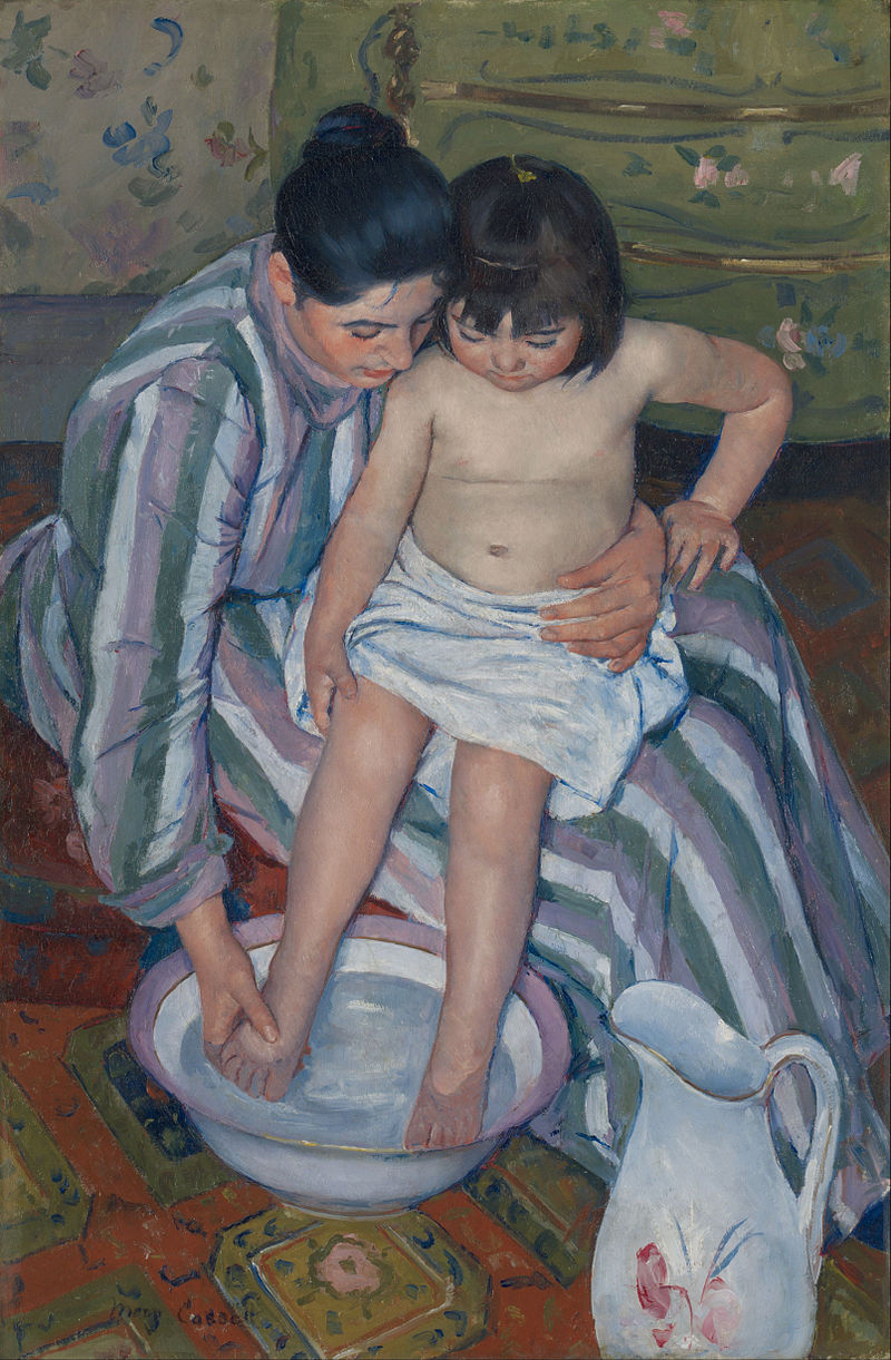 Mary Cassatt,  The Child's Bath (The Bath) , 1893. Oil on canvas.