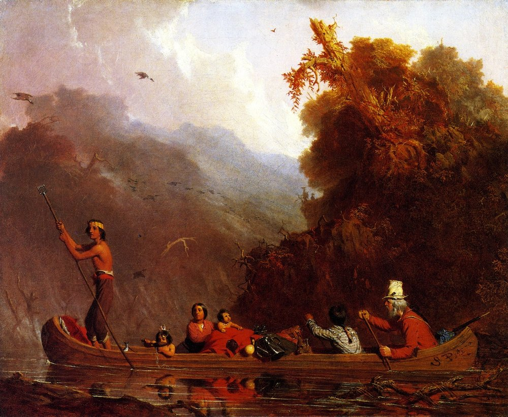 Charles Deas,   The Voyageurs , 1845