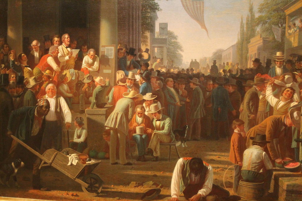 George Caleb Bingham's  Verdict of the People