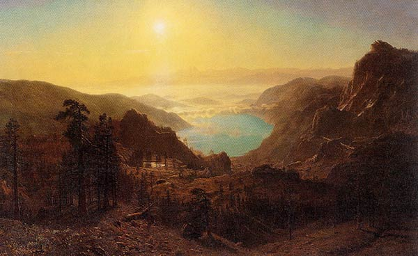 Albert Bierstadt,   Donner Lake from the Summit , 1873