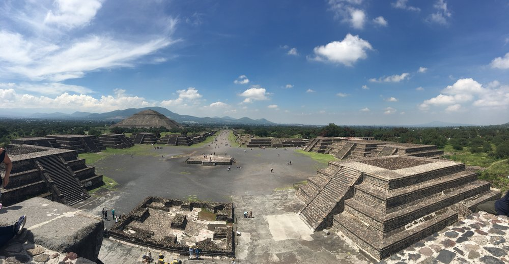 View from the top of the Pyramid of the Moon
