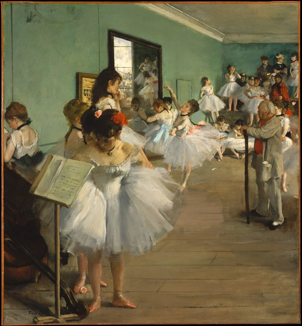 Edgar Degas,  The Dance Class , 1874, The MET, New York