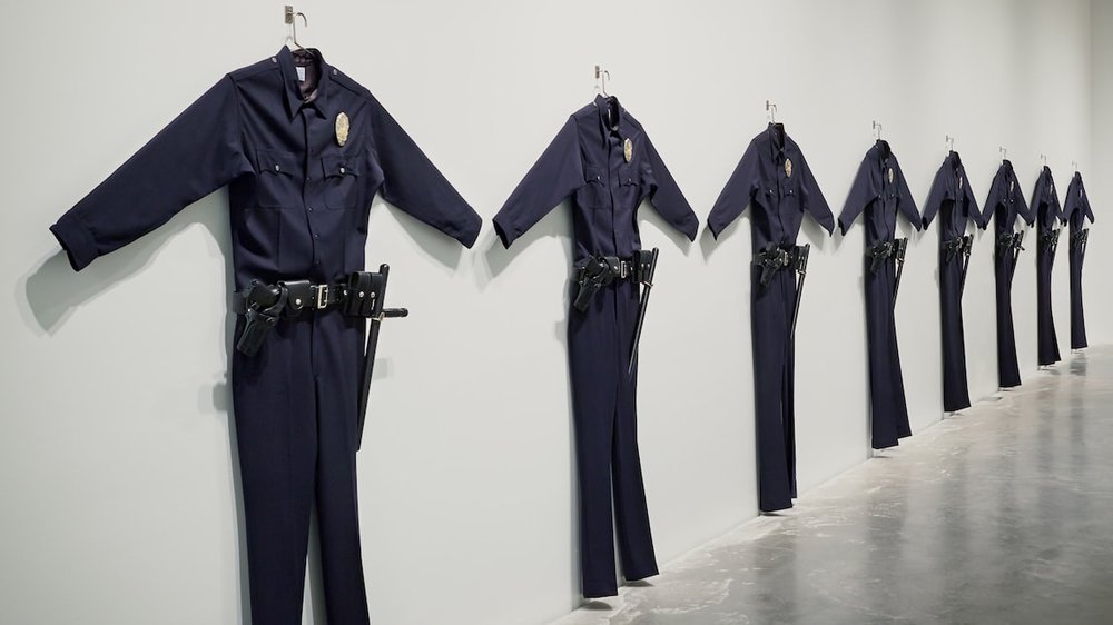 Chris Burden,  L.A.P.D. Uniform , 1993, Installation art