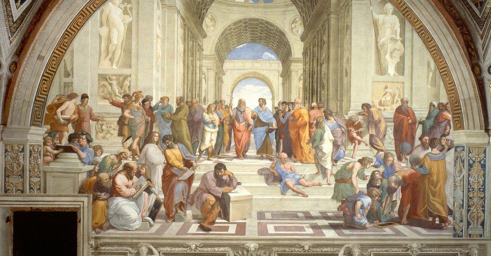 Raphael,  The School of Athens , 1509-1511