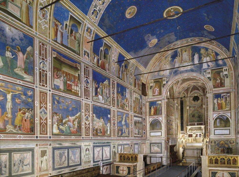 Giotto,  Scrovegni Chapel , in Padua, Italy