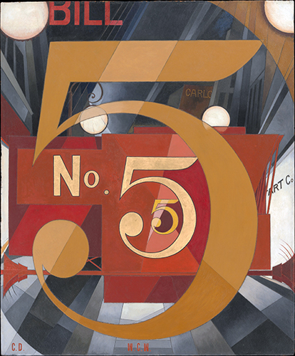 Charles Demuth,  I Saw the Figure 5 in Gold , 1928