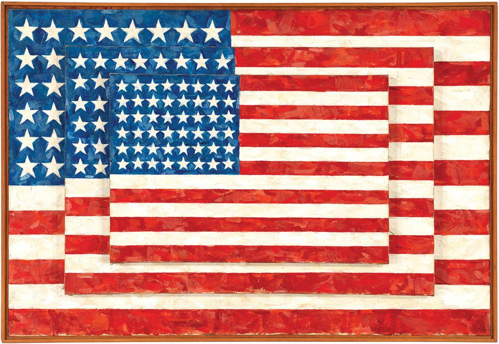 Jasper Johns,  Three Flags , 1958