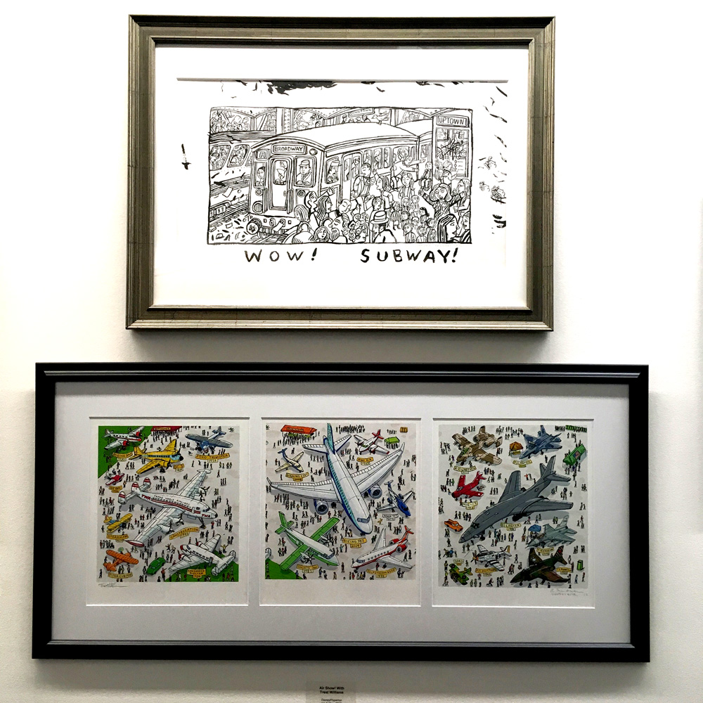 I showed a few original ink drawings- most of the work is Epson prints; digital color