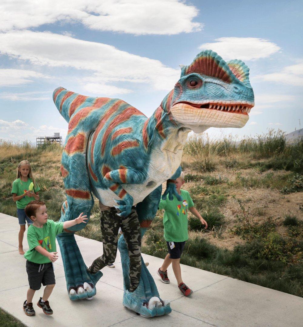 Blue the Dilophosaurus